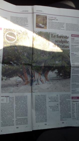 Le foreste scolpite di Fratus su °L'Eco diBergamo°