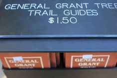 Titolo. Segui la carta. Luogo: General Grant Tree Grove, Kings Canyon National Park, California.