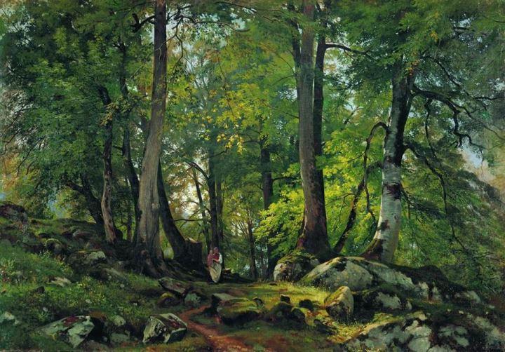 Ivan_Shishkin_Beech_Forest_in_Switzerland_1864