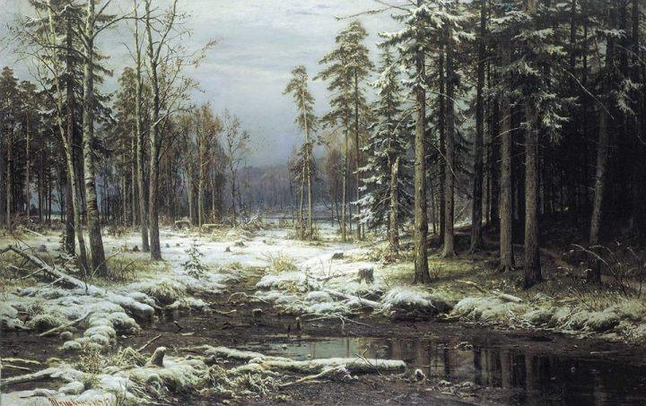 Ivan_Shishkin_First_Snow_1875