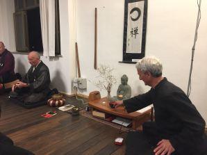 Lignaggio Rinzai: i maestri Lugi Mario Engaku Taino e Mario Fatibene Nanmon.